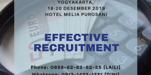 Effective Recruitment – PASTI JALAN