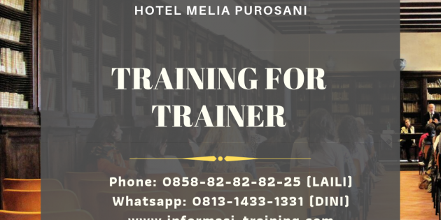 TRAINING FOR TRAINER – Pasti Jalan