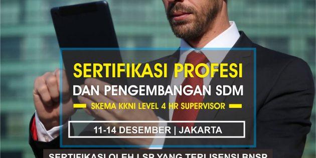 HR Supervisor – Sertifikasi BNSP (PASTI JALAN)