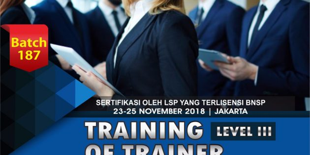 Training of Trainer – Sertifikasi BNSP (PASTI JALAN)