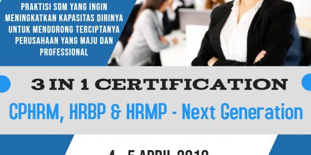 CPHRM, HRBP & HRMP – Next Generation