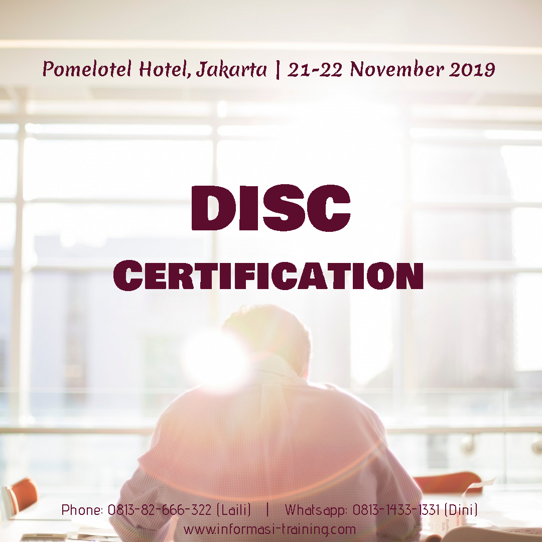 DISC CERTIFICATION – PASTI JALAN