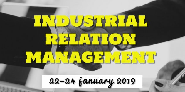 INDUSTRIAL RELATION MANAGEMENT – Available Online