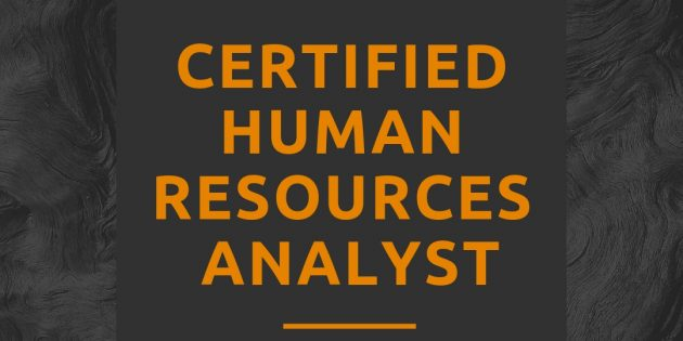 Human Resources Analyst Certification (AVAILABLE ONLINE)