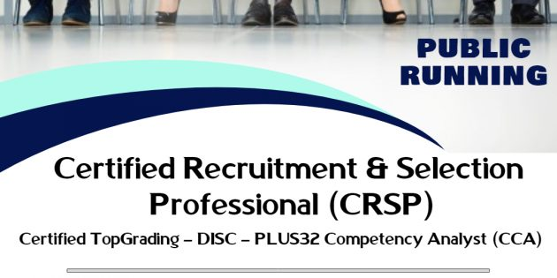 Certified Recruitment & Selection Professional (CRSP) – Available Online